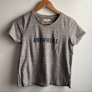 Madewell Gray stripe Anywhere hemp cotton tee